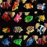 Wholesale TS Brief Artificial Tropical Fish Jellyfish for Aquarium Fish Tank Ornament Decor Random Color ST