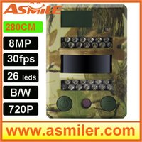 Camouflage IP65 2.8c 2015 New 8MP hunting trail camera wildlife cameras from Asmile