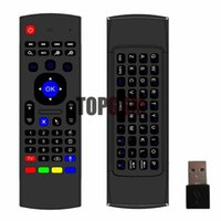 Wholesale MX3 Keyboard Ghz Wireless Mini Keyboard Fly Air Mouse IR Learning Remote Controller For Android TV Box MX3 MX MXQ M8 X8 Plus Free Ship
