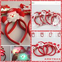 bearings suppliers - New LED Light Christmas Headband Christmas Snowman Deer Bear Milu Stlys Children Adults Hair Accessories Festive Party Christmas Suppliers