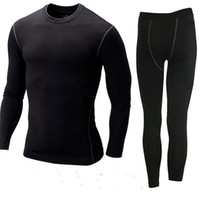 acrylic sports surfaces - Men And Women Outdoors Sports Thermal Underwear Set Hot Dry Technology Surface Warm Elastic Force Sportswear