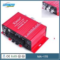 Wholesale Car Amplifier MP3 MP4 CD amplifier V DC Hi Fi Mini Channel Subwoofer Car Amplifier Kinter MA Red