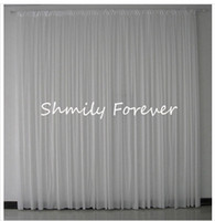 curtains - Promotion White Wedding Backdrop Curtain ft by ft M X3M New Arrival Chiffon