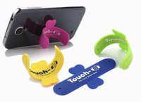 Wholesale The New South Korean packaged Touch U silicone mobile phone ring bracket U type bracket pops butterfly paste support lazy