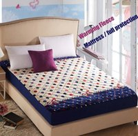 Wholesale Printed fleece mattress cover bedspread printing flower bed sheets cheap bed cover
