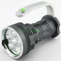 aviation flashlight - 6T6 W Lumens XM L T6 Modes Aviation Aluminum Alloy Flashlight Torch with Handle New Version