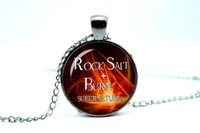 american salt - 10pcs Supernatural necklace Rock salt and burn dean winchester sam winchester Glass Photo Cabochon Necklace