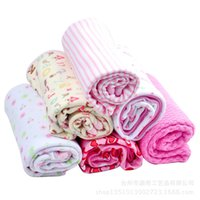 Wholesale Newborn Double Layer Cotton Baby Cuddle Blanket Infant Robes Washing Cloth Baby Bed Children Sleeping Blanket