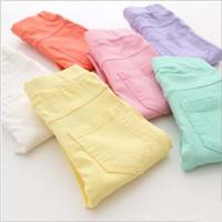 Wholesale New dongguan_wholesale Kids Pants Casual Fashion Candy Color Pencil Pants For Girls Retail PC ZZ2999