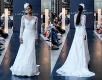 beaches india - Gothic Plus Size Vintage Lace Beach Wedding Dresses Long Sleeves Arabic India Cheap Fall White Sheer Bridal Dress Sexy Appliques Gown