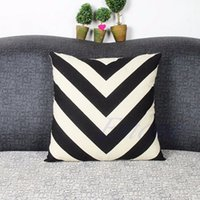 Wholesale Simple Geometry Cotton Linen Pillow Case Sofa Throw Cushion Cover Home Decor Hot