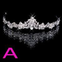 silk hair band - In Stock Rhinestone Crystal Wedding Party Prom Homecoming Crowns Band Princess Bridal Tiaras Hair Accessories Fashion