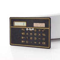Wholesale Portable Ultrathin Mini Credit Card Calculator Solar Power Small Slim Pocket Calculator For Student etc