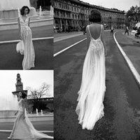 Wholesale 2016 Illusion Mermaid Wedding Dresses Vantage Backless Tulle Court Train Lace Applique Beaded Liz Martinez Wedding Bridal Gowns
