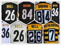 bell - Steelers Black Men s Le Veon Bell Michael Vick Antonio Brown Ben Roethlisberger Stitched Jerseys