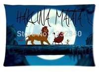 Wholesale Cool Pillowcase Hakuna Matata The lion king Cartoon Style Pillow Case Twin Sides x30 Inch