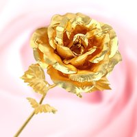 24k gold rose - Arts and Crafts Lover s gift Great Valentine s day gifts k gold rose lover s flower Gold wedding decor favors Free Gift Box