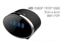 Caméra Horloge de table 5.0MP COMS Full HD 1080P Horloge WiFi Remote Security Alarm Clock caméscope vidéo H.264 IR nuit Version