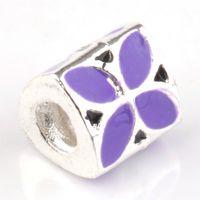 Wholesale 1pc Enamel European Charms Bead Fit Bracelet Bangles