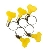 Wholesale 5cs Butterfly Stainless Steel Mini Jubilee Fuel Hose Clamps Clip Fit mm O D mm O D Tubing