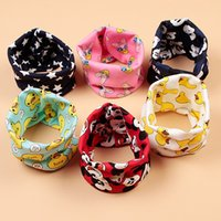 Wholesale 20 Design Children s cartoon cotton scarf baby winter plus thick velvet double sets of boys and girls cotton scarf collars wg235