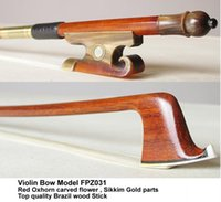Wholesale Violin Bow Top quality wotj Red Horn Frog FPZ031