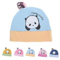 Wholesale Baby Kids Infant Toddler Beanie Hat Warm Winter Boys Girls Caps Months Autumn Wimter Skull Stripe Panda Beanies Hats Cap