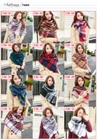 Wholesale fashion Tartan Scarf Plaid Blanket Scarves Multi styles Scarves Shawls for women Checked Pashmina Women s porpular scarf