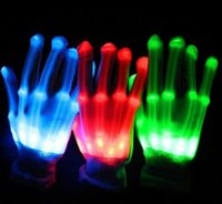 Christmas Christmas Decoration Supplies White LED lighting gloves flashing cosplay novelty glove led light toy item flash gloves for Halloween Christmas Party
