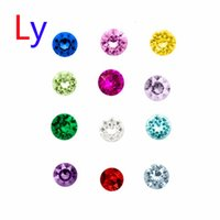 Wholesale 120PCS Mix Color Floating Charms Rhinestone Birthday Stone Locket Jewelry Pendant For Necklace Zinc Pendant glass pendant steel MFC2004