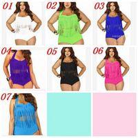10pz 8 colori Sexy imbottito up Plus Size bikini alta vita 2015 nuovo Sexy donne Bikini Costumi da bagno costumi da bagno nappe Bikini