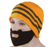 balaclava knitting - Novelty Handmade Knitted Crochet Beard Hat Bicycle Mask Ski Cap roman knight octopus beanies Skull Caps winter hat balaclava Color