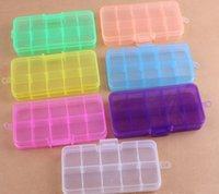 adjustable es - 10 Slots Plastic Adjustable Jewelry Storage Box Case Craft Beads ES