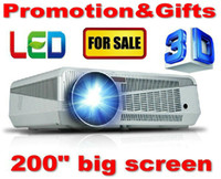 LCD 3d projector - Free gift inches screen fabric lumens Android Projector Full HD LED Daytime Projector LCD D Wifi smart projector Proyector