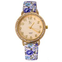 beauty element - Newest Women Wrist Watch Popular Elements Of Sweet Floral Ladies Watch Beauty Dress Hours Online cs