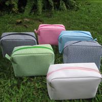 Wholesale Toiletry Bag Blanks Greek Key Printing Cosmetic Bags Travel Zippered Bag Women Accessory Bag DOM106056