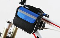 Wholesale Cycling Bike Bicycle Front Frame Tube Bags Pannier Beam Package Double Pouch Cellphone