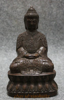Wholesale New quot Tibet Bronze Collect Buddhism Shakyamuni Joss Sakyamuni Buddha Seat Statue