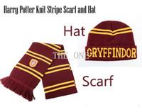 Wholesale harry potter hat and scarf Hogwarts school Gryffindor Slytherin Hufflepuff Ravenclaw harry potter beanie harry potter knit scarf cap