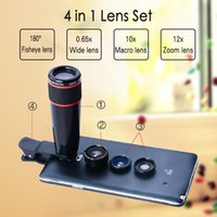 Wholesale X Telephoto Telescope Optical Zoom Lens Wide Angle amp Macro Fisheye Lens Camera Lens Kit for iPhone Plus s Samsung Note4