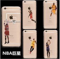 basketball accessory - Basketball Star D Fashion Cell Phones Accessories Cartoon iPhone7 iPhone6S Plus iPhone6S PC Painted Cess Phone Cases Multicolor A1DB08