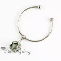 white flower oil - flower openwork metal volcanic stone aromatherapy diffuser jewelry essential oil jewelry lava stone beads charm bracelets