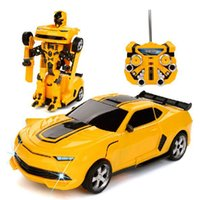 Wholesale 2 In Automatically Robot Remote Control RC Car Children Electric Car Toys Gifts for Kids Children