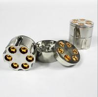 achat en gros de meuleuse tabacco-New Arrival New Metal Bullet Shape Herbal Herb Cigar Tabacco Grinder Smoke Grinders Magnetic Livraison gratuite