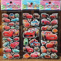 hello kitty stickers - EMS Kids Cars Hello Kitty Cartoon Puffy Sticker Toys Children PVC Paper Crafts Puzzle Thomas Kindergarten Prize Gift