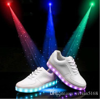 solid - LED luminous shoes men women fashion sneakers USB charging light up sneakers for adults colorful glowing leisure flat shoes best price