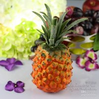 Wholesale Large size yellow Artificial faux pineapple Simulation of plastic Fruits for desktop decoration Living room furnishings home decor