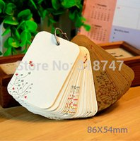 Wholesale CM Blank Rounded Corners Small Card Bookmarks DIY Message Cards Diary Notepad