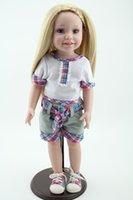 american classics buy - 18 Inch Full Vinyl Buy American Cute Girl Doll Just Like Me Girls Toys Realistic Hobbies Princess Doll Toys For Children