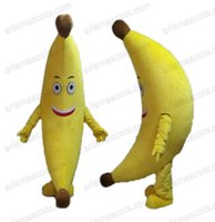 banana outfit - AM4025 real pictures Banana mascot costume fruit mascot outfit adult carnival dress party costumes Fur mascota